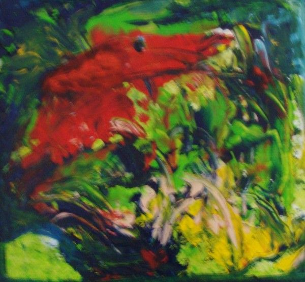 abstraction rouge et vert